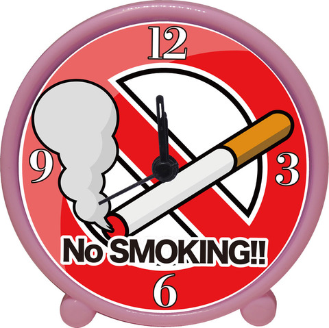 アラームクロック(ピンク)禁煙
