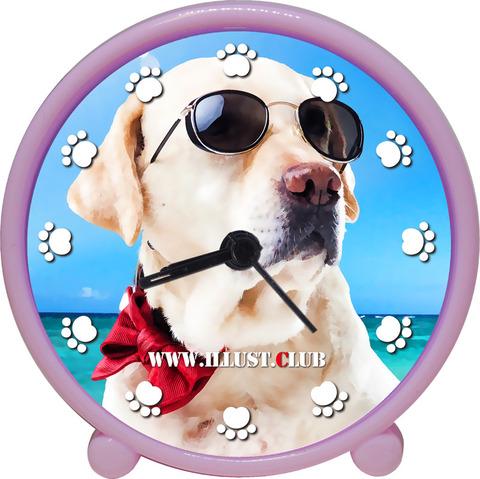 アラームクロック(ピンク)dog