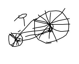 自転車の絵描くってかなり難しくね?