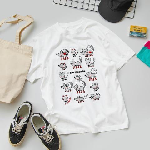 スズリ ねずみさんのイラストTシャツ みやもとかずみ_3