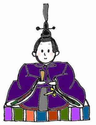 ひな祭りの絵カードイラスト素材/おびな/中