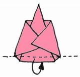 折り紙・雛人形の折り方・イラスト図解/6s