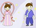 織姫と彦星のイラスト・絵カード素材|七夕のイラスト 120