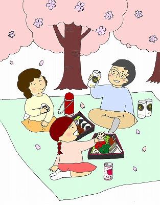 お花見のイラスト/m