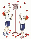 玉入れのイラスト・絵カード素材|運動会のイラスト