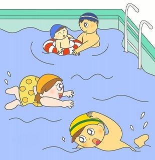 プールのイラスト・絵カード素材|スポーツのイラスト 320