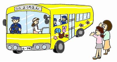 幼稚園のイラスト・幼稚園バス-m