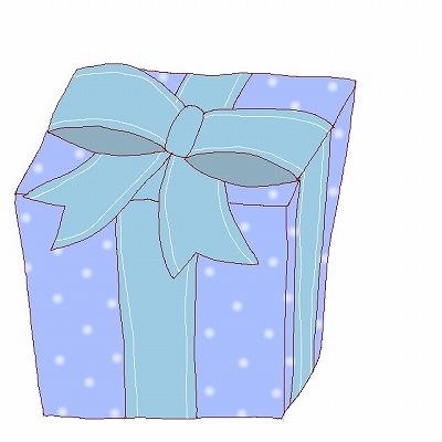 プレゼントの絵カード・イラスト素材m
