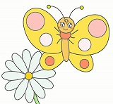 ちょうちょうのイラスト・絵カード素材|春・夏の虫のイラスト