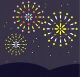 花火のイラスト・絵カード素材|夏のイラスト