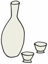 白酒・ひな祭りのイラスト・絵カード素材/l