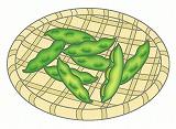 枝豆のイラスト・絵カード素材|夏の野菜のイラスト