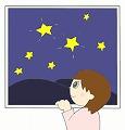 星空のイラスト・絵カード素材|七夕のイラスト 120