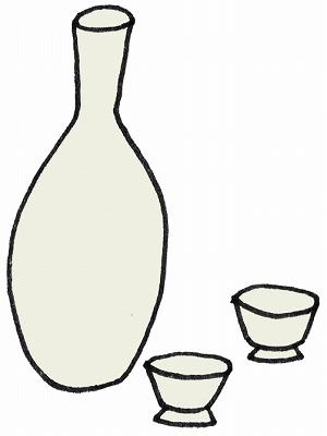 白酒・ひな祭りのイラスト・絵カード素材/m