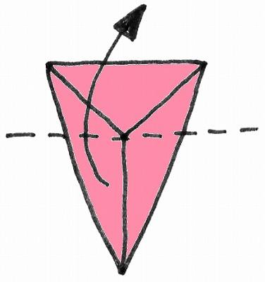 折り紙・雛人形の折り方・イラスト図解/4m