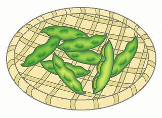 枝豆のイラスト・絵カード素材 夏の野菜のイラスト