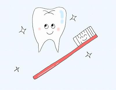 歯と歯ブラシのイラストm /歯の衛生デーのイラスト