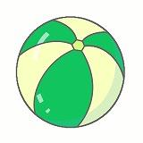ビーチボールのイラスト・絵カード素材|海水浴のイラスト