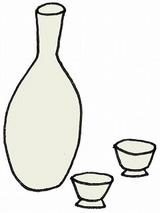 白酒・ひな祭りのイラスト・絵カード素材/s