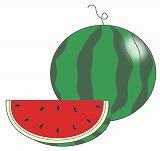 すいかのイラスト・絵カード素材|夏の果物のイラスト