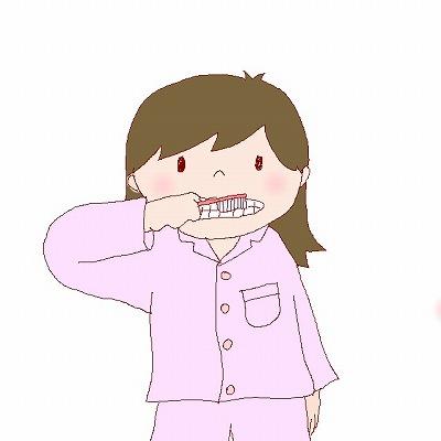 ハミガキの絵カード・イラスト素材・歯の衛生デーのイラストm