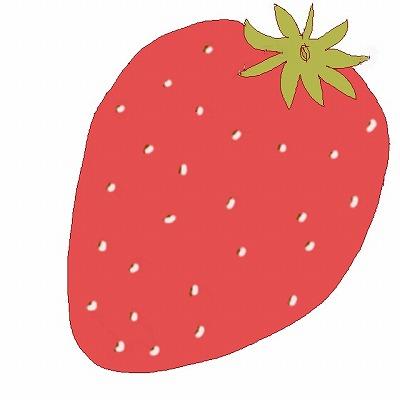 苺(いちご)のイラスト・絵カード素材m