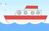 船のイラスト・絵カード素材|海のイラスト