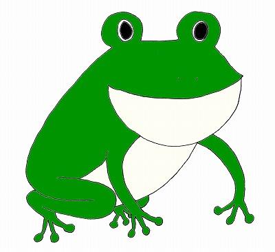 カエル(かえる・蛙)のイラストm/梅雨