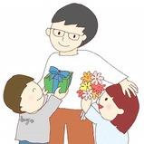 父の日の絵カード・イラスト素材s