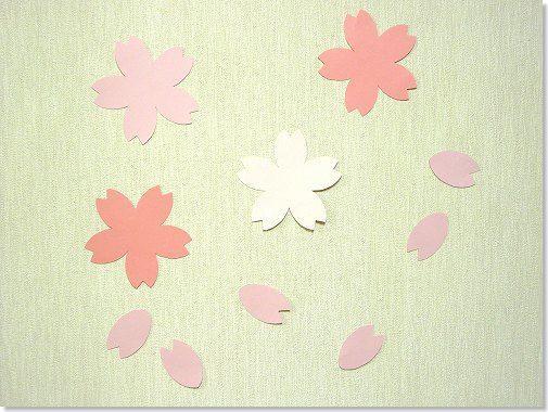 桜の花びらの型紙