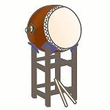 太鼓のイラスト・絵カード素材 お祭りのイラスト
