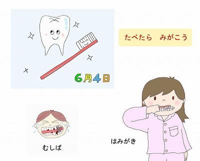 歯の衛生デーのイラスト・絵カード素材m