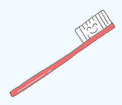ハブラシ(歯ブラシ)のイラストm /衛生用品のイラスト
