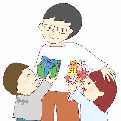 父の日の絵カード・イラスト素材m