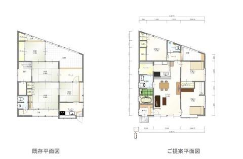 福島様邸 平面図