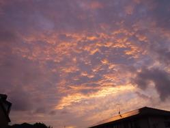 �夕方の雲2