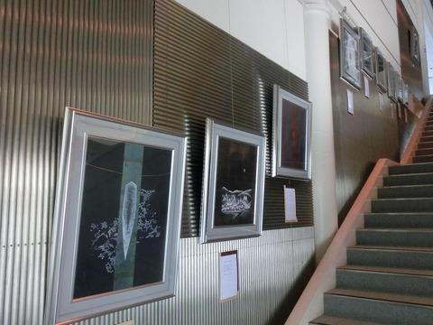 日本画家・柳樂晃里・和銅博物館展示作品2