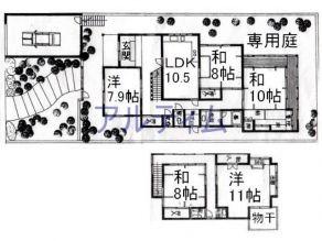 京都 賃貸 貸家 図面