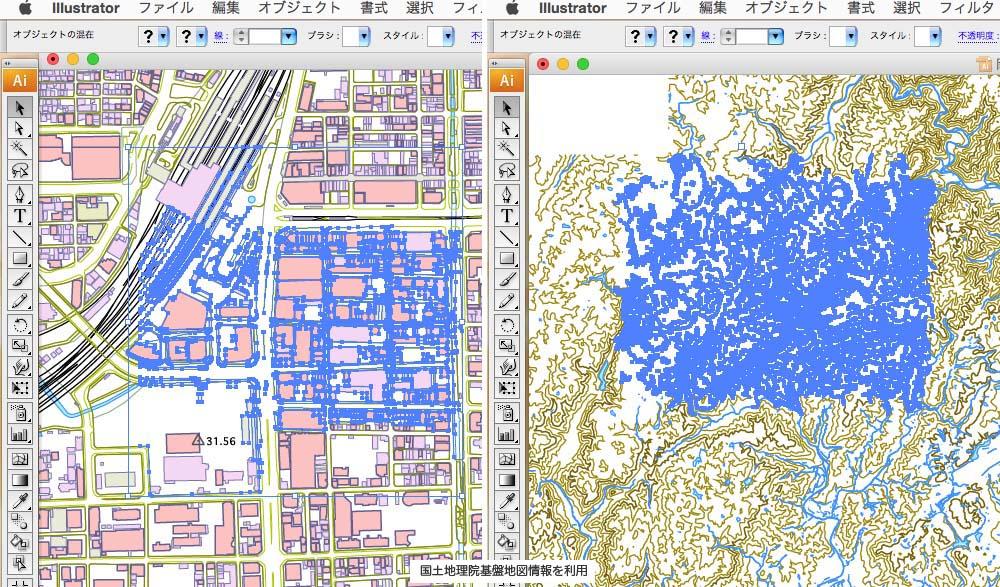 模型屋と3DCAD : 基盤地図情報