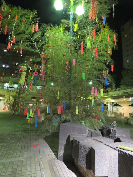 IMG_1474・26日夜の笹飾り