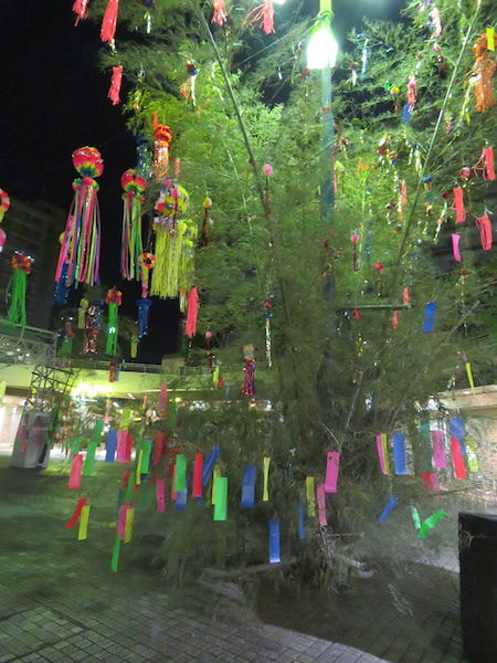IMG_1475・26日夜の笹飾り
