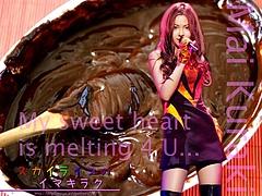 Mai Kuraki and melting chocolate