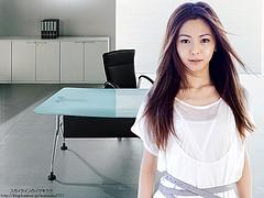 Mai Kuraki in the office