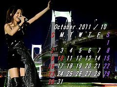 Mai Kuraki Rainbow Bridge October 2011 Calendar