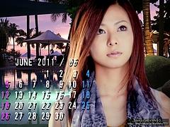 倉木麻衣さんの6月のカレンダー