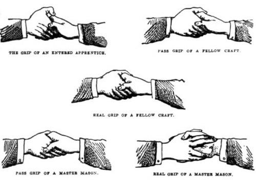 フリーメイソン握手