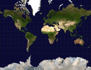 メルカトル世界地図
