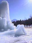 樹氷祭り準備中