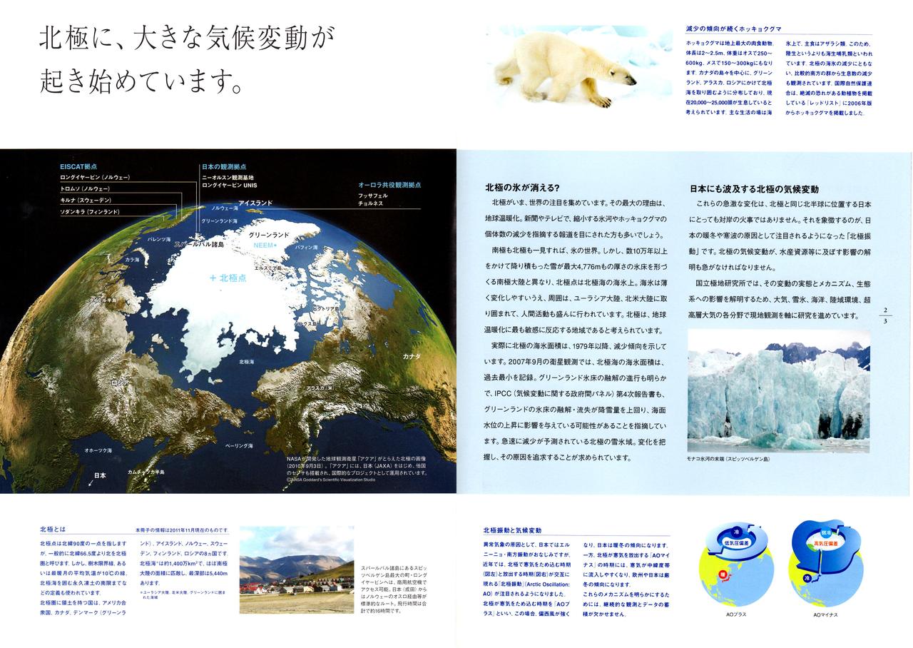 1.北極に大きな気候変動が起き始めています
