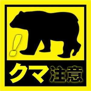 クマに注意!